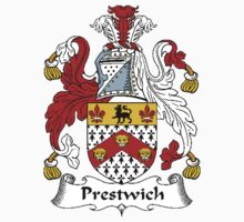 Coat of arms (family crest) for last-name or surname Prestwich . Heraldry banner for your name. T-Shirt