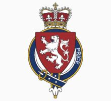 Coat of arms (family crest) for last-name or surname Price (Wales) . Heraldry banner for your name. Kids Clothes