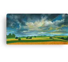 Cornfields - contemporary landscape oil painting Canvas Print