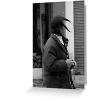 unique hat Greeting Card