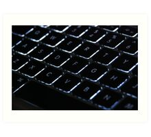 Backlit Keyboard Art Print