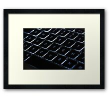 Backlit Keyboard Framed Print