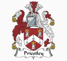 Coat of arms (family crest) for last-name or surname Priestley or Prestley . Heraldry banner for your name. T-Shirt
