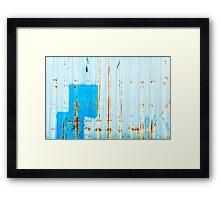 Azzurro - Blue Framed Print