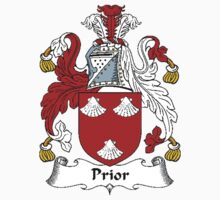 Coat of arms (family crest) for last-name or surname Prior or Pryer . Heraldry banner for your name. T-Shirt