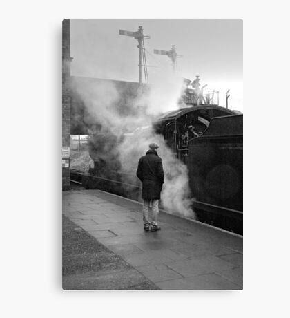 Nostalgia in monochrome at Loughborough, UK. Canvas Print