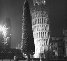 A wet evening in Pisa Italy by Paul Pasco