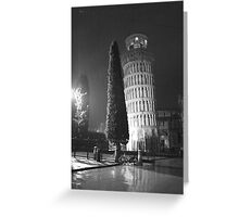 A wet evening in Pisa Italy Greeting Card