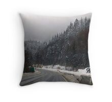 Sea To Sky in Winter Throw Pillow