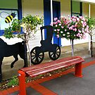 Have a seat at the Honey Farm Shop by Marilyn Harris