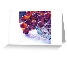 Grapes in Crystal Bowl Greeting Card