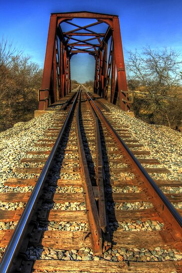 Atop the Tracks at the Trestle by Terence Russell