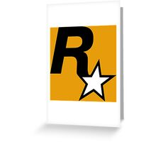 Rockstar Logo Greeting Card