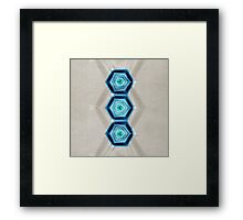 Abstract Hexagon Blue Pattern Framed Print