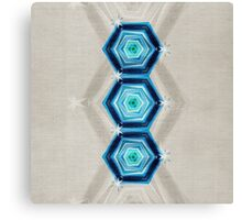 Abstract Hexagon Blue Pattern Canvas Print