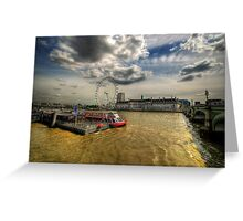 River Thames, London Greeting Card