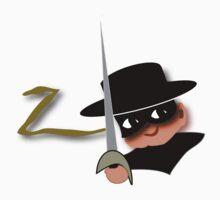 Z= Legendary hero Zorro! Kids Tee