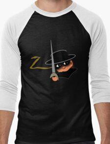 Z= Legendary hero Zorro! Men's Baseball ¾ T-Shirt