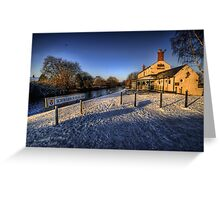 Winter At The Boat Inn  Greeting Card