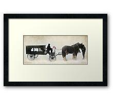 Cowboy Send-Off Framed Print