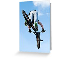 BMX Bike Stunt Greeting Card