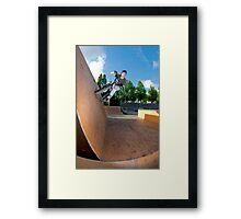BMX Bike Stunt Wall Ride Framed Print
