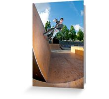 BMX Bike Stunt Wall Ride Greeting Card