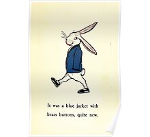 The Tale of Peter Rabbitt Beatrix Potter 1916 0031 New Blue Jacket With Brass Buttons Poster