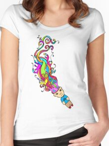 Abstract In My Mind Women's Fitted Scoop T-Shirt