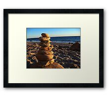 Pebbles - Martha's Vineyard Gay Head Beach Framed Print