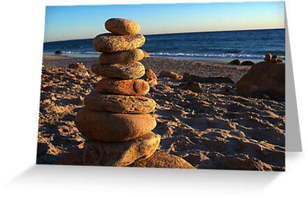 Pebbles - Martha's Vineyard Gay Head Beach by Simon Lindsay