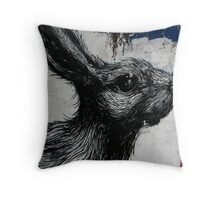 Giant Rabbit, ROA Throw Pillow
