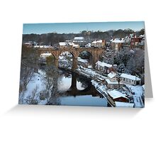 winter morning over the river Greeting Card