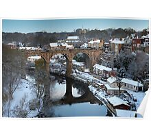 winter morning over the river Poster