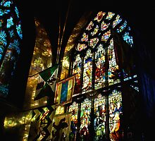 Refelections on the Wall, St. Giles Cathedral by Christine Smith