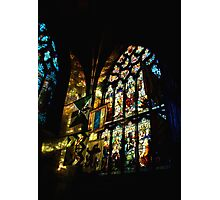 Refelections on the Wall, St. Giles Cathedral Photographic Print