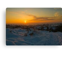Sunsetting over the Village Canvas Print