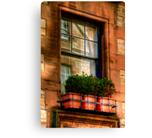 Reflections in the Window, Edinburgh Canvas Print