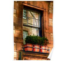 Reflections in the Window, Edinburgh Poster