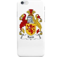 Coat of arms (family crest) for last-name or surname Rand (e) . Heraldry banner for your name. iPhone Case/Skin