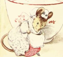 The Tailor of Gloucester Beatrix Potter 1903 0036 Mouse Dressed at Teacup Sticker