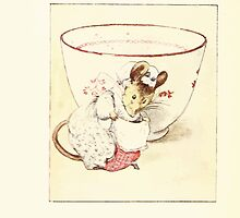 The Tailor of Gloucester Beatrix Potter 1903 0036 Mouse Dressed at Teacup by wetdryvac