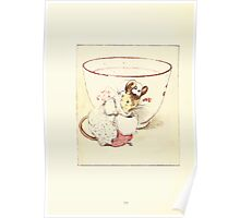 The Tailor of Gloucester Beatrix Potter 1903 0036 Mouse Dressed at Teacup Poster