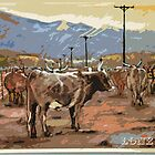 Cattle, Lone Pine by itchingink