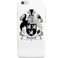 Coat of arms (family crest) for last-name or surname Randall . Heraldry banner for your name. iPhone Case/Skin