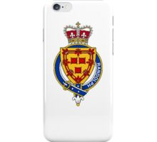 Coat of arms (family crest) for last-name or surname Randolph (Scotland) . Heraldry banner for your name. iPhone Case/Skin