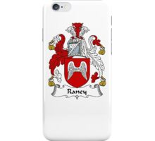 Coat of arms (family crest) for last-name or surname Raney . Heraldry banner for your name. iPhone Case/Skin