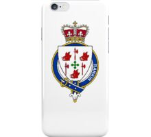Coat of arms (family crest) for last-name or surname Rankin (Scotland) . Heraldry banner for your name. iPhone Case/Skin