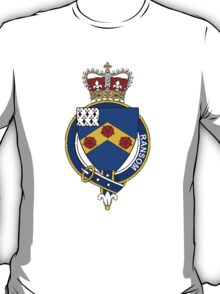 Coat of arms (family crest) for last-name or surname Ransom or Ranson (England) . Heraldry banner for your name. T-Shirt