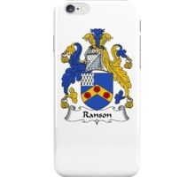 Coat of arms (family crest) for last-name or surname Ranson . Heraldry banner for your name. iPhone Case/Skin